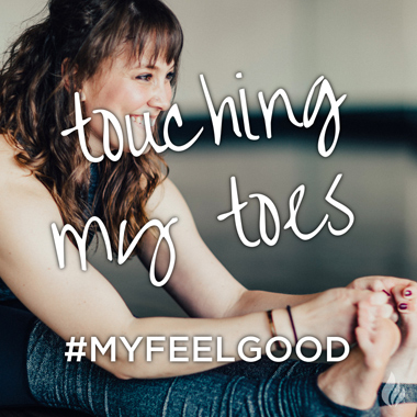 touching my toes