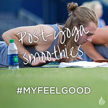 Post-yoga smoothies